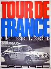 Porsche Factory poster Tour de France 1969 ~ 911R ~ original & linen mounted