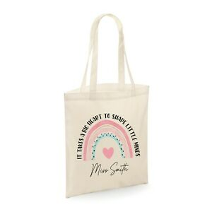 Personalised Teacher Student Tote Book Bag Thank you Gift present Shape Minds
