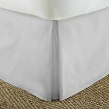 Tailored Bedskirt/Valance Ultra-Plush Egyptian Cotton 1000 TC Light Grey Solid