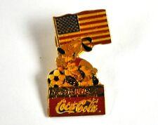 Coca Cola Coke USA Solapa Pin Botón Divisa de - Copa Mundial fútbol 94