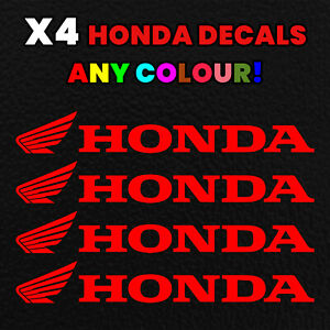 X4 HONDA ANY COLOUR MOTOCROSS Decals Motorbike Stickers CBR Motorcycle CR crf