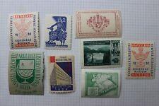 Czechoslovakia Czech Republic Philatelic Exhibition lot PRAGA Stamp label ad