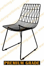 SKDL Replica Bend Wire Chair - Black (White or Black Seat Cushion +$15 Each)