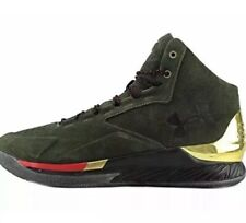 *NEW*Under Armour Sz 11.5 Curry 1 Lux Mid Suede 1296617-330 Basketball Shoes Men