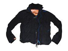 Linea uomo Superdry Giacca nera Giacca a vento-cappotto medio-VSJ101