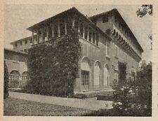 D1197 Firenze - Careggi - Villa Medicea - Stampa antica - 1921 old print