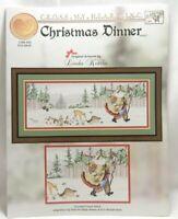 Christmas Dinner Cross Stitch Chart Santa Claus Rare Cross My Heart CSB-304