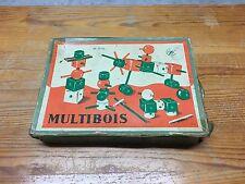 ⚡⚡ Jeu de construction MULTIBOIS, fabriqué en France année 50-60 ⚡⚡