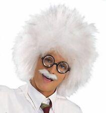 Crazy Guy Mad Professor Doctor #Einstein White Wig Hair Halloween Fancy Dress