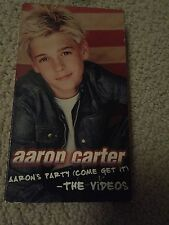 VHS Tape Aaron Carter Aaron's Party (come get it) - the videos