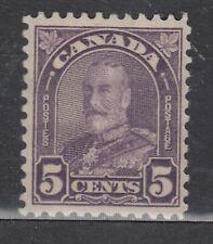 1930-1 #169 5¢ KING GEORGE V ARCH/LEAF ISSUE F-VFNH