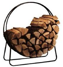 "Round Fireplace Firewood Log Holder 40"" Hoop Rack - NIB"