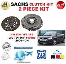 pour VW EOS 1F7 1F8 2.0 TDI 16V 140BHP 2006- > SACHS 2 pièce Kit embrayage