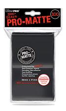 (600) ULTRA PRO Card Sleeves *PRO-MATTE BLACK* DECK PROTECTORS MTG 12 Pack Box