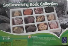 Geosafari SEDIMENTARY ROCK COLLECTION ages 8yrs+ 12 specimens, id chart & guide