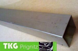 50 cm Vierkantrohr Edelstahl  30 x 30 x 2,0 mm Quadrat Rohr V2A gebeizt