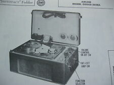 AIRLINE 05GCD-3658A WIRE RECORDER AMPLIFIER PHOTOFACT