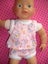 Unterwäsche für Baby Puppen Gr. 35-45 cm für Krümel Muffin Hemd Höschen Heless