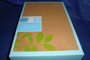 GARTNER 50ct Wedding Invitation Kit  Botanical Kraft  Design / Print Your-Self !