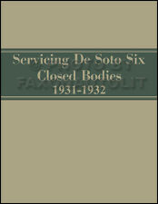 1931-1932 De Soto SA Six Body Repair Manual DeSoto 6 Repair Shop