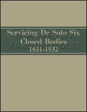 1931-1932 De Soto SA Six Body Repair Manual DeSoto 6 Repair Shop