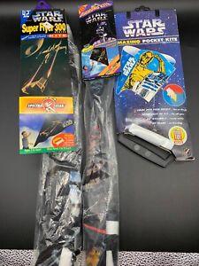 Star Wars Kites Lot Of 3! Amazing Pocket Kite, Spectra Star X2 NEW VINTAGE