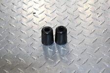 Black Bar Ends ZX10R Logo Hand Grips Handlebar For 2006-2012 Kawasaki ZX14