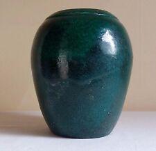Studio Art Pottery Robert Compton Pottery Raku Green Vase Bristol Vermont signed