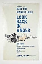 Orig Broadway Window Card Poster Look Back in Anger David Merrick