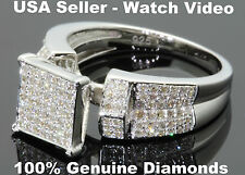 .65 CARAT WOMENS LADIES WHITE GOLD FINISH DIAMOND ENGAGEMENT WEDDING RING