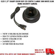 "Cámara De Seguridad CL23 1/3"" Sharp Ccd Color DSP 420TVL 3.6MM 15M Domo De Plata"