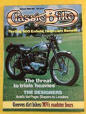 CLASSIC BIKE - January 1983 - 250cc Benelli Single - Royal Enfield J2 - Magazine