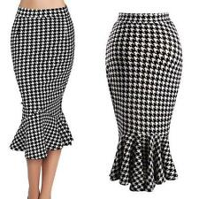 AU SELLER Vintage Retro 50s Pin Up Rockabilly Frshtail Pencil Skirt Dress dr042