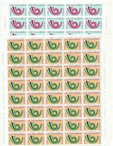 San Marino MNH New 1973 Europa Cept 2v Folded Sheets s32776