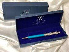 Fashion SWAROVSKI Element Crystal Pen with Anna Wu Gift Case TURQUOISE