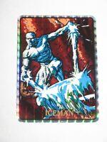 1992 MARVEL MASTERPIECES ICEMAN #40 VENDING MACHINE STICKER! PRISM! X-MEN RARE!
