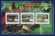 Briefmarken mit Reptilien- & Amphibien-Motiven aus Guinea