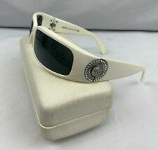 Versace 4044-B Sunglasses Gray Lens & White Frame