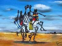 AFL OUTBACK GRAND FINAL PAINTING ART PRINT AUSSIE RULES ANDY BAKER ABORIGINAL