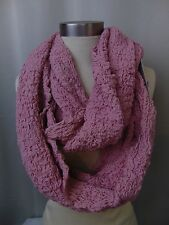 Echo Design Infinity Loop Cowl Scarf Ruched/Bunched Light Rose Pink #4440