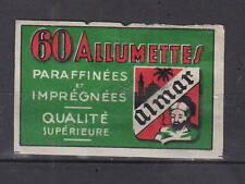 Ancienne   étiquette   allumettes  Belgique AZ4152 Almar Average 60