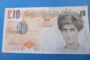 Original Banksy ten pound note, Di-Faced Has cheap as chips,