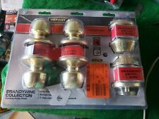 Defiant Brandywine Polished Brass Single Cylinder Keyed Entry Project