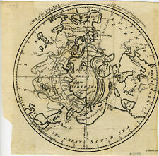 1760 Genuine Antique map North Pole. Northwest Passage. Gentleman's Magazine