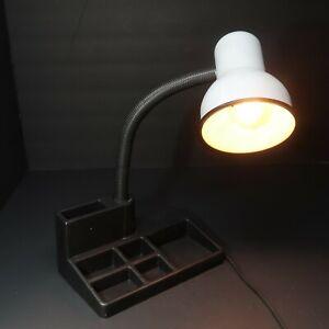 Gooseneck Organizer Desk Lamp with Accessory Holder