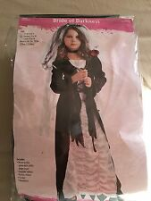 Girls Halloween   Bride Of Darkness Costume   size  M  8-10