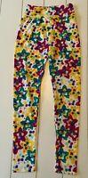 Lularoe Floral Leggings Yoga Pants Tween Girl
