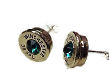 Handcrafted Remington or Winchester shotgun shell jewelry items, stud earrings