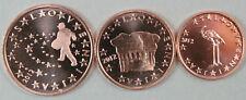 1c, 2c et 5 cents Slovéniel 2007. UNC