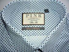 """Thomas Pink Mens Shirt 16.5"""" BNWT Slim Fit Long Sleeve 36.5"""" Single Cuff"""